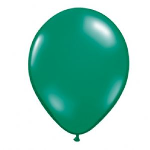 "11"" Emerald Green Balloons - Qualatex Latex Balloons 